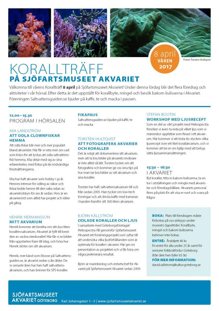 Korallträff 8 april 2017, Sjöfartsmuseet Akvariet.jpg
